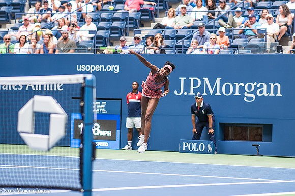 At 37, Venus Williams is the oldest woman playing at the U.S. Open. But age wasn't a factor in her ...