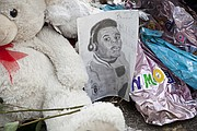 Picture of memorial to Michael Brown who was killed by a Ferguson, Missouri police officer on August 9, 2014. (Courtesy Photo)