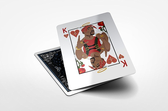 "it's called ""The 1998 Deck."" And yes, that's Tupac as the King of Hearts."