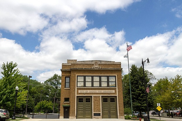 Photos by Rebecca Healy   •	Chicago Fire Department firehouse on 110th block of Homewood Avenue.