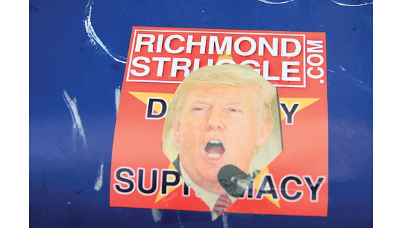 A Richmond Free Press newspaper box on Robinson Street in The Fan was defaced again last week with a sticker ...
