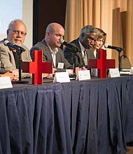 The 2017 Disaster Preparedness Summit Panel discusses Bioterrorism Preparedness and Response Planning in Illinois. Photo Credit: American Red Cross of Chicago & Northern Illinois