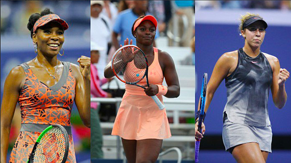 For the first time in U.S. Open history, three black women have advanced to the quarterfinal round; and, in this ...