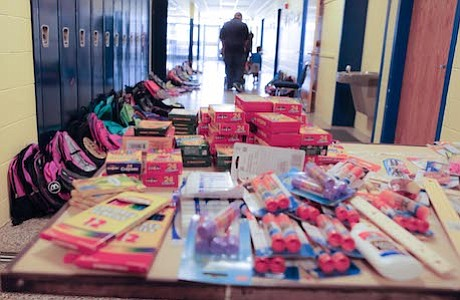 The Lawnside Public School Back-to-School Bonanza was opened all New Jersey residents. Parent and students were directed to choose one backpack and 3 school supply items. ​ ​