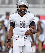 Howard University quarterback Caylin Newton