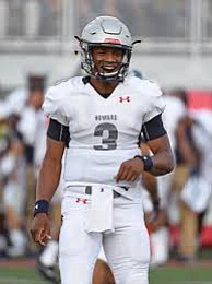 Howard University quarterback Caylin Newton