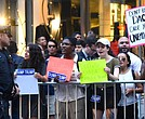 Demonstrators protest outside of Trump Tower over DACA