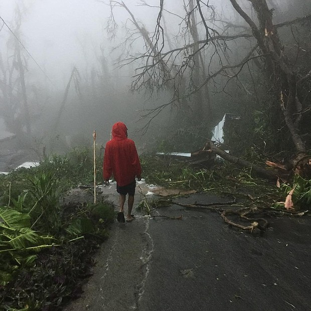 Damage in St. Thomas left behind from Hurricane Irma