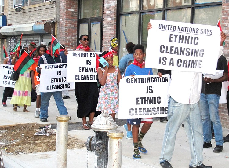 Gentrification' is ethnic cleansing   New York Amsterdam