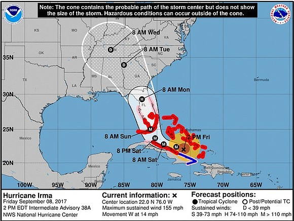 The Latest on Hurricane Irma (all times local):