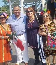 (Left to Right)  Carmela Vargas, President of Mexican Patriotic Club;  Martin Castro, Esq; Susan Garza-Sadlowski, 10th Ward Alderwoman; Yolanda Corona, Member