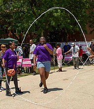 She-Ta Coulter, assistant for Mayor Annie R. Coulter of the Village of Ford Heights, explained that the annual Double Dutch Tournament is geared towards restoring generational bonding and resolving generational illnesses. Photo Credit: Double Dutch Movement