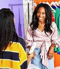 Zerina Akers is a fashion stylist who's worked with some of the biggest names in the industry, including Beyoncé Knowles-Carter, Chloe and Halle, Ava DuVernay, and Yara Shahidi. Known for her bold, and colorful looks, she is now working in partnership with Dove.
