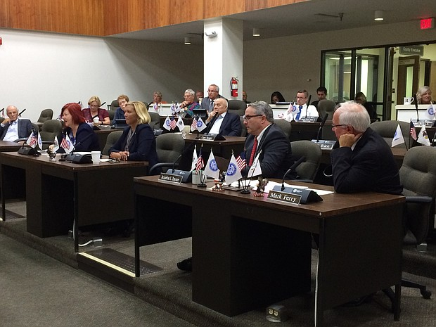 (Left to right) State Representative Margo McDermed (37th), Sue Rezin (38th), John Connor (85th) and Pat McGuire (43rd) attend a Will County legislative committee meeting this week to answer questions about the local impact of the new state budget.