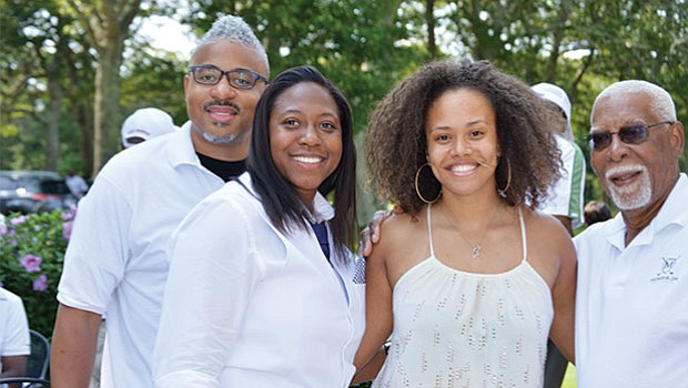 Sekou Morrison (p.k.a Sekou Writes) Kellie Tiller, Jha D Williams and George Morrison at the 17th Annual Morrison Golf Classic Sponsored by Toyota