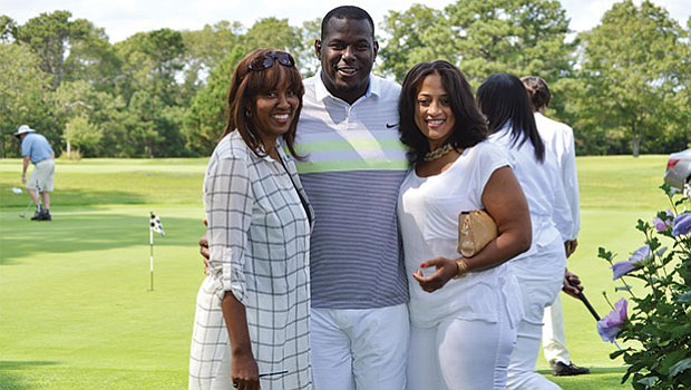 Rhonda Adams, Byron Chamberlain and Clara Arroyo at the 17th Annual Morrison Golf Classic Sponsored by Toyota