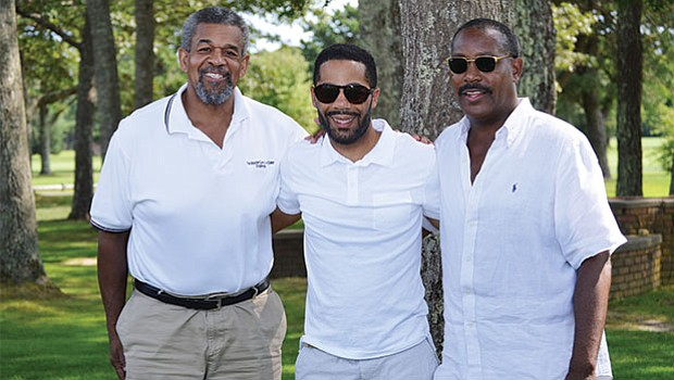 Steven Bernard, Carl Thompson and Willie Hicks, Jr. at the 17th Annual Morrison Golf Classic Sponsored by Toyota