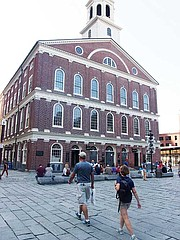 The National Park Service incorporates information on Faneuil Hall's connection to the trans-Atlantic slave trade in its tours of the building.