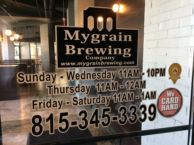MyGrain Brewing opened last week in a 12,000 square foot space in the former Union Station in downtown Joliet.