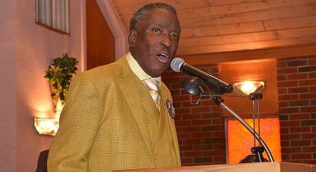 The Rev. Dwight R. Montgomery speaking at Annesdale-Cherokee Missionary Baptist Church. (Photo: Tyrone P. Easley)