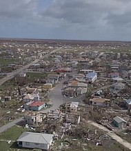 Devastation left by Hurricane Irma in Barbuda