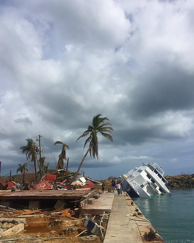 Julien Alleyne took photos of damage in St. Thomas after Hurricane Irma ripped through the Virgin Islands.