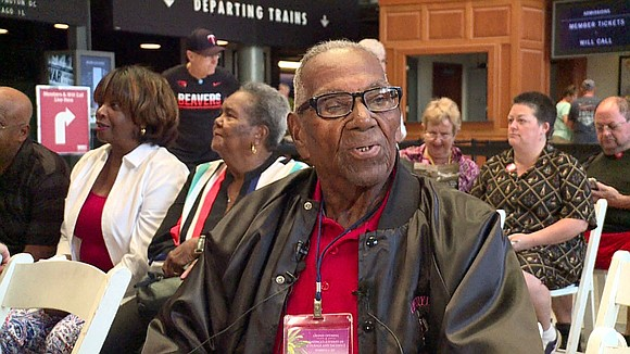 A very special veteran celebrated another milestone today at the National WWII Museum downtown.