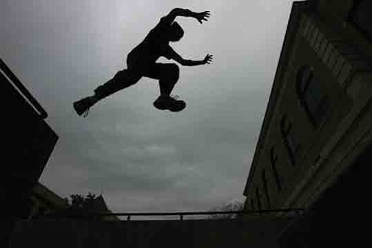Image result for jump from roof