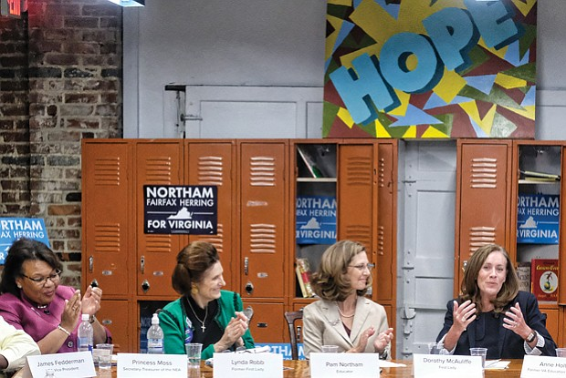 First ladies stumping for education //