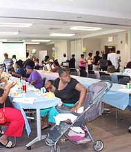 Nearly 100 moms-to-be attended a community baby shower hosted by St. Bernard Hospital.