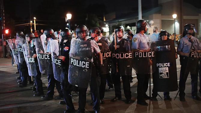 "Some St. Louis police reportedly were heard chanting, ""Whose Streets? OUR STREETS!"" during the protests."