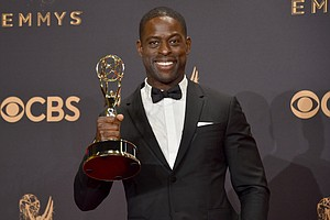 Sterling K. Brown, winner of Outstanding Lead Actor in a Drama Series, This Is Us/photo cred The Mercury News