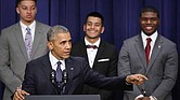 Then President Barack Obama speaks at the annual My Brother's Keeper event at the White House in 2016. (Mark Wilson/Getty Images)