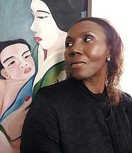 "Colette Brésilla with ""Maman Geisha I."""
