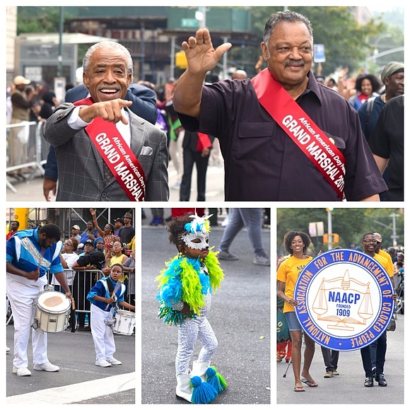 "Dubbed the ""Largest Black Parade in America,"" the 48th annual African-American Day Parade marched through Harlem on Sunday."
