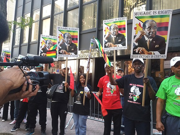 Robert Mugabe, president of the Republic of Zimbabwe, will address the United Nations General Assembly Thursday, Sept. 21, and a ...