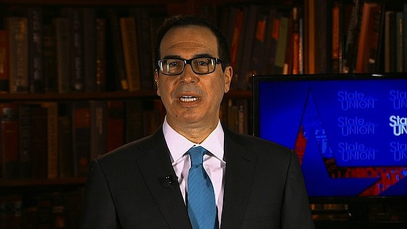 Treasury Secretary Steve Mnuchin said Sunday that NFL owners should decide on a rule on how to handle players who ...