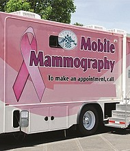 Tuality Healthcare's mobile mammography van will be available for free breast cancer screenings by prior appointment during an Oct. 7 health fair at Maranatha Church in northeast Portland.