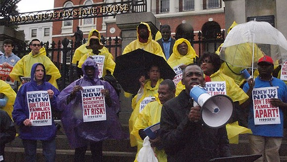 Members of the Haitian community rallied outside the State House last week, calling for renewed or permanent resident status for ...