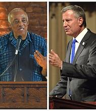 Assemblyman Charles Barron and Mayor Bill de Blasio