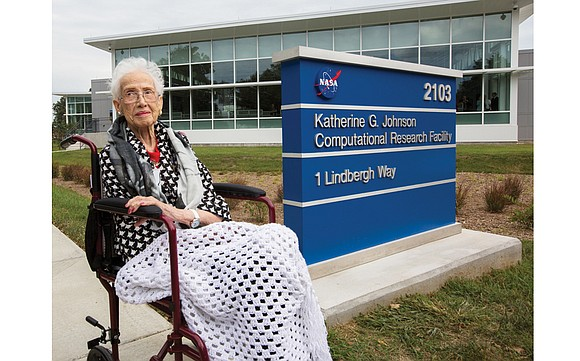 Katherine G. Johnson, the pioneering Virginia woman whose key role in America's early space missions was portrayed in the Oscar-nominated ...
