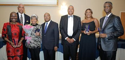 People Making A Difference 2017 award recipients with South Jersey Journal's Founders (L-R) Darlene Walker, Frank Minor, Laura Wooten, Irv Randolph, Al Thomas, Angela Brown, and Robert Dickerson.