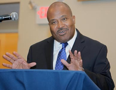 South Jersey Journal's Co-Founder, Editor & Publisher, Irv Randolph addresses the attendees at the 25 Most Influential African Americans in New Jersey and People Making A Difference Awards Ceremony.