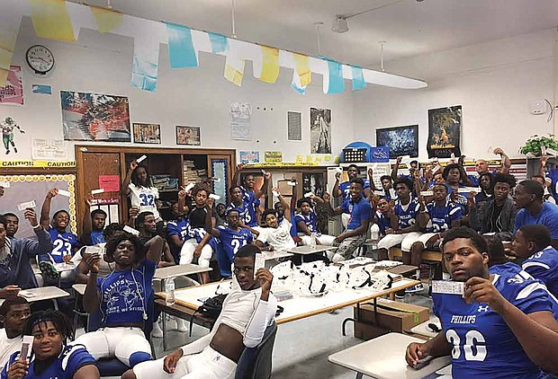Wendell Phillips Wildcats Football team, including its freshmen roster, recently received enough equipment for their roster from former star quarter back Peyton Manning. The Citizen Newspaper Group also donated tickets to the 20th Annual Chicago Football Classic held at Soldier Field so that team members could attend the game.