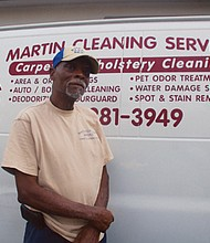 Thomas Martin, owner and operator of 'Martin Cleaning Service -- Carpet and Upholstery Cleaning; since 1999.