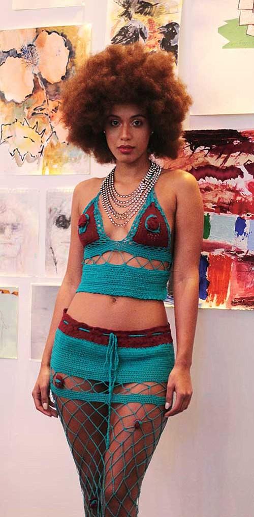 Models display Makuwa Swimwear designs.