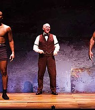 "Toran White, Mark W. Soucy and Thomas Silcott in ""The Royale."""