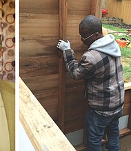 David Greenidge (left) runs a non-profit rooted in Portland's African American community, providing training in construction as a way to break a cycle of low employment impacting young men and women from our community.