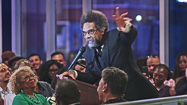 Dr. Cornel West speaks at Grove Hall.
