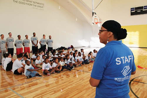 A youth basketball clinic in partnership with the Portland Trail Blazers follows the dedication Monday of the new Rockwood Boys and Girls Club and a new Nike-sponsored gym.